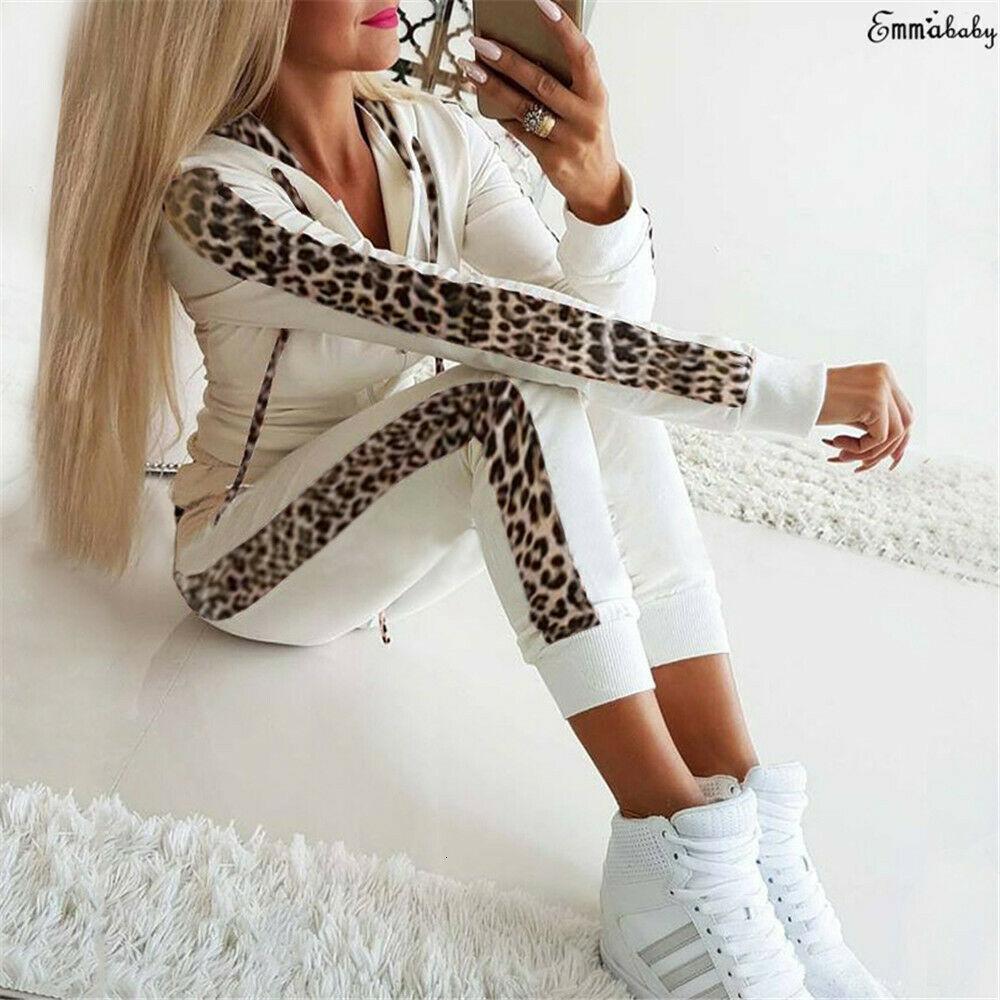 2 pcs mulheres tracksuit zipper hoodies moletom calça set jogador esporte desgaste senhoras suor casual outono streetwear terno