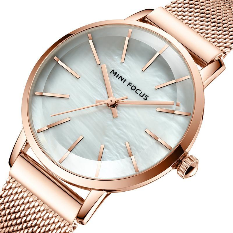 Armbanduhren Frauen Uhren Mode Uhr Luxus Frauen Rose Gold Handgelenk Damen Geschenke Edelstahl Uhr Waches