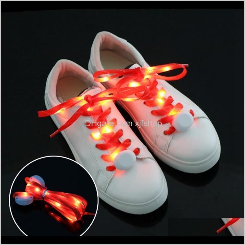Gadget Multicolor Shoelace LED Nightlights Light Nylon Plano Luminoso brillante Flash Flashing Shoelaces Cordones Laces Lace Shoestring Alupf W0cye