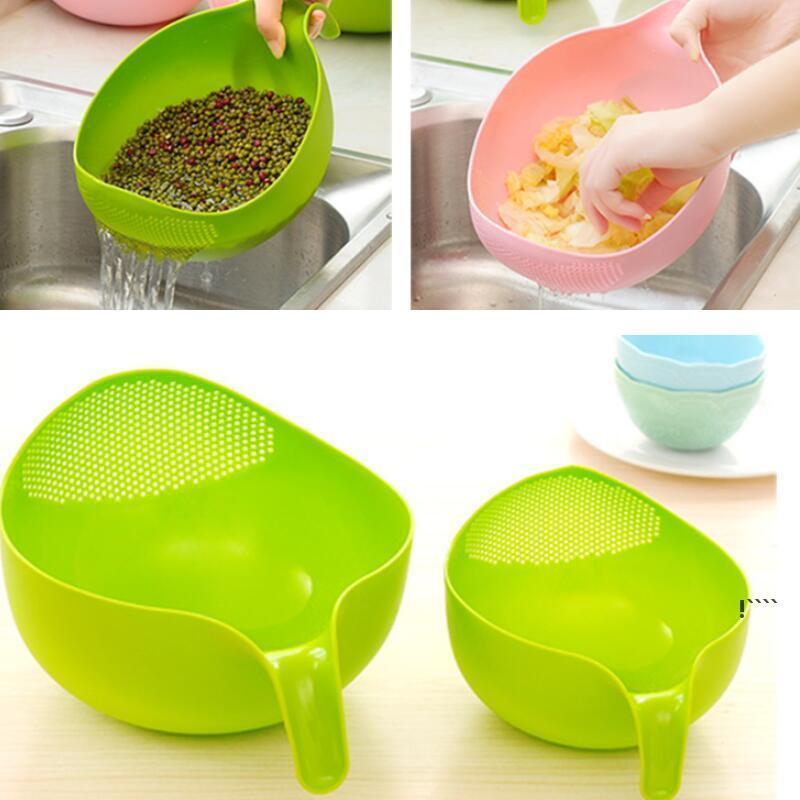Küchenwerkzeuge Reis Waschfiltersieer Kreative Kunststoff Bohnen Erbsen Nützlich Bequemes Werkzeug FWD6322