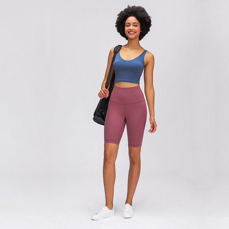 L-10 Hochhaus Yoga Shorts Nackt Gefühl Elastic Sportswear Outfit Damen Runing Sports Enge Fünf Punkte Hosen Fitness Slim Fit Kurz TrouLe