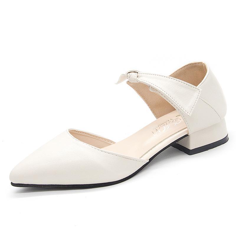 Piccole scarpe con tacco alto, donne, sera, dolci gentili, gonne delicate, 2021 fiocco di primavera, spesso con sandali da scarpe da fata