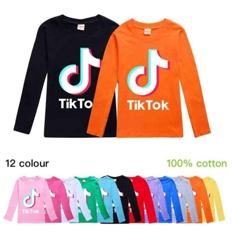 12 Colors Tik Tok Kids Long Sleeve Round Neck Hoodies Boys Girls Tops Teenager TikTok Sweatshirt Jacket Coat Cotton Clothing G40DPMW