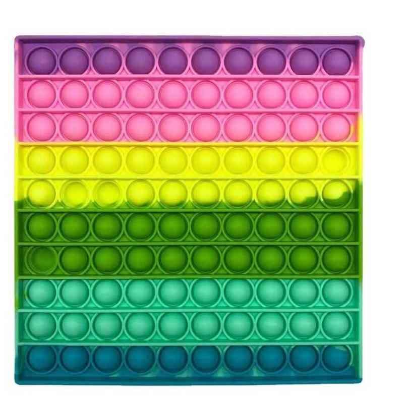 Tamanho Grande 20cm Makaron Silicone Fingertip Fidget Pop Puzzle Brinquedos Jogo de Placa Kids Child Push Push Bubble Grande Anti Stress Sensory Descompactação Brinquedos G65Wexu