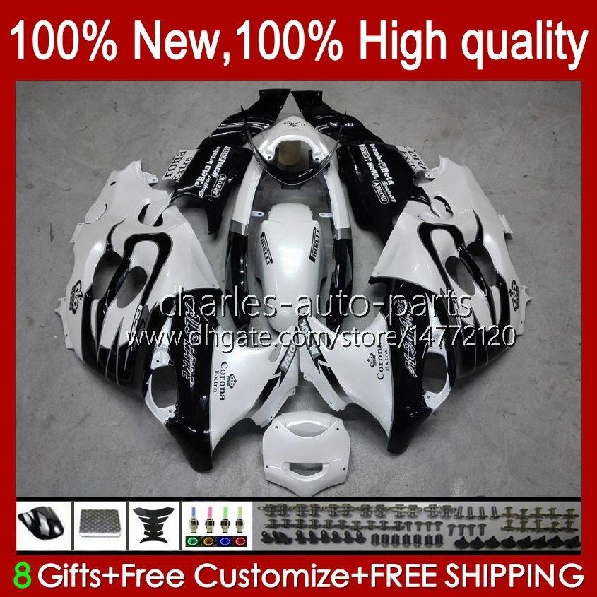 鈴木カタナ用Body for Suzuki Chatana GSXF750 GSXF 600 750 CC 98 99 00 01 02 29 No.8 600CC 750CC GSX750F GSXF-600 GSXF-750 1998 1999 2000 2000 2001 2002フェアリングホワイトBlalck