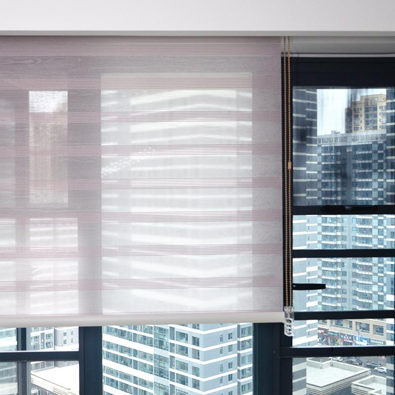 Smart Matters Quality Window Roller Blinds Shades Interior Colored Pleated Woven Fabric Thread Beads Curtains Bedroom Customized
