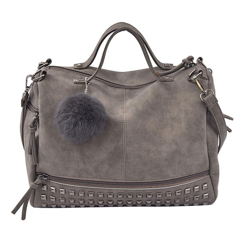 HBP 2021 new hot high quality fashion design handbag leather purses handbags Women Rivet Handbag Large Tote Satchel Shoulder Bag Travel Bag