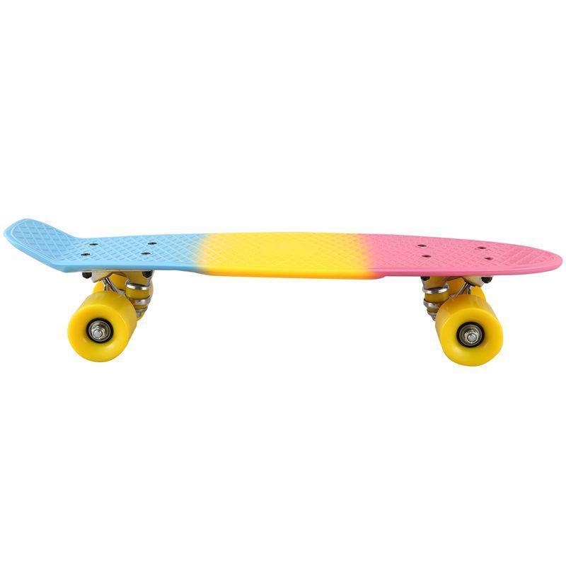 بوصة مصغرة لوحة تزلج للأطفال 22 جرافيك الرجعية الطفل سكيت كروزر التزلج