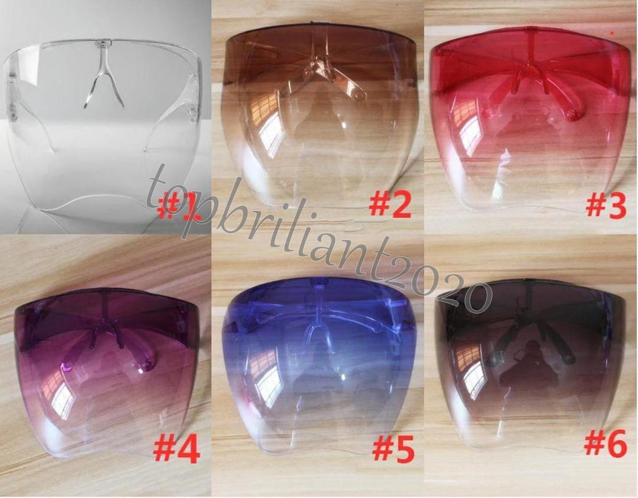 DHL Envio Clear Protetora Face Shield Festa Máscaras Óculos Óculos De Segurança Festa À Prova D 'Água Anti-Spray Máscara Óculos de GOGGLE GOGGLE