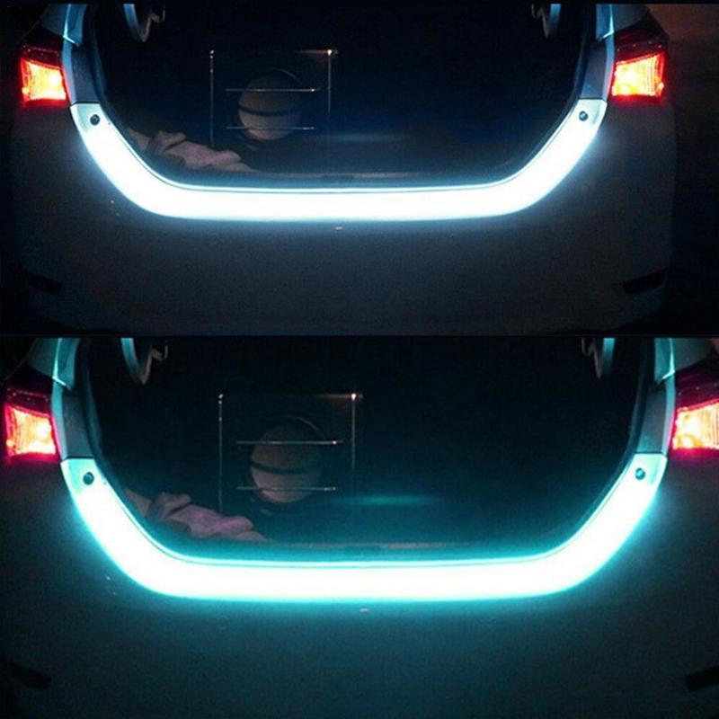 Fluid LED Strip Car Trunk Area Illumination Rear Brake C6B6 Ba Turn Signal 12V Four Type Light Tailgate 1.2m Flow Color O4J8 Emergency Light