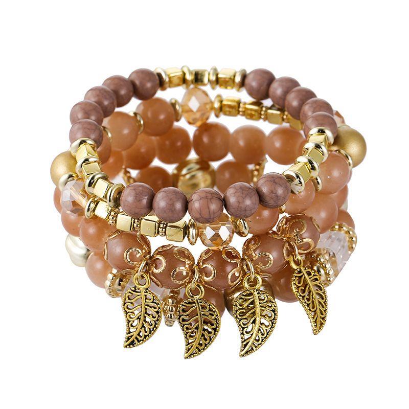 Bohemian Main Accessoires Creative Multi-couche Verre Bead Bracelet Bracelet Bijoux