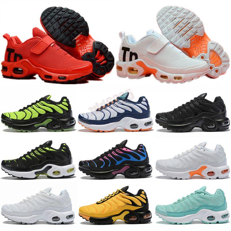 Nike Mercurial Air Max Plus Tn Bambini Ragazzi Ragazze Running Scarpe Athletic TN Plus Sneaker Sneakers GRATIS Baby Sneakers Bianco Nero Sport Moda Allenatore Regalo