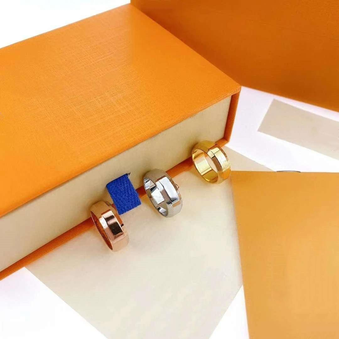 2021 Hot Mode Ring für Mann Frauen Unisex Ringe Männer Frau Schmuck 8 Farbe Geschenke Mode Accessoires