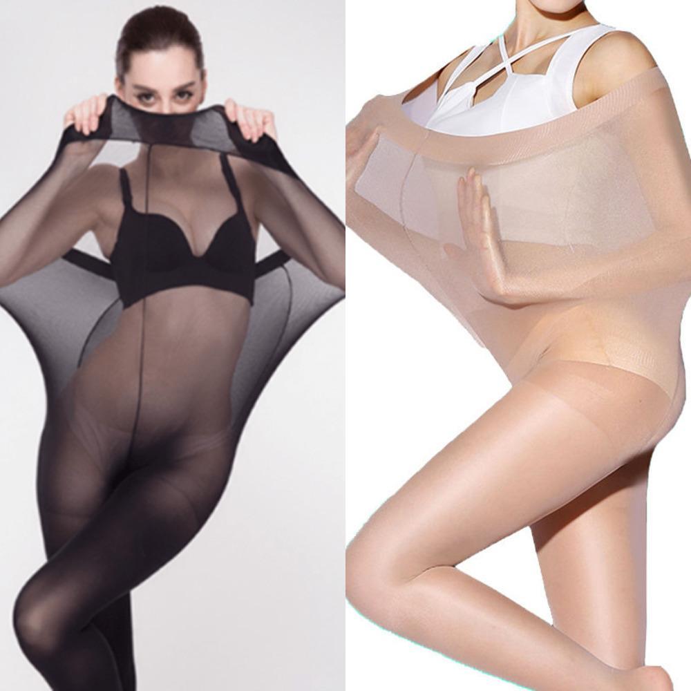 Talla grande Medias ultra elásticas Medias Mujeres Control de peso Cuerpo Shaper Pantyhose 30D Medias medias sexy ropa interior x0521
