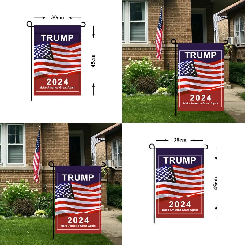 2024 General election Garden Banner Bandiera Trump Presidential US 30 * 45cm Campagna per le bandiere Make America Great Again Banner Stampa digitale 3 49CDA Q2