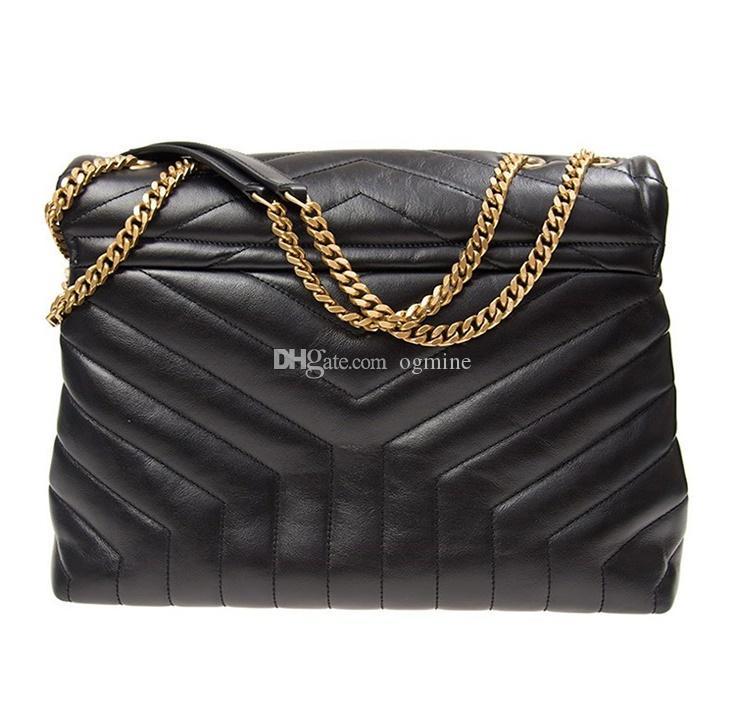 Fashion Designer Lou Lou Sacs à bandoulière sac à main Sacs à main en cuir véritable Femmes célèbres Bandbody Messenger Chain Loulou sac haute qualité 25cm 32cm #