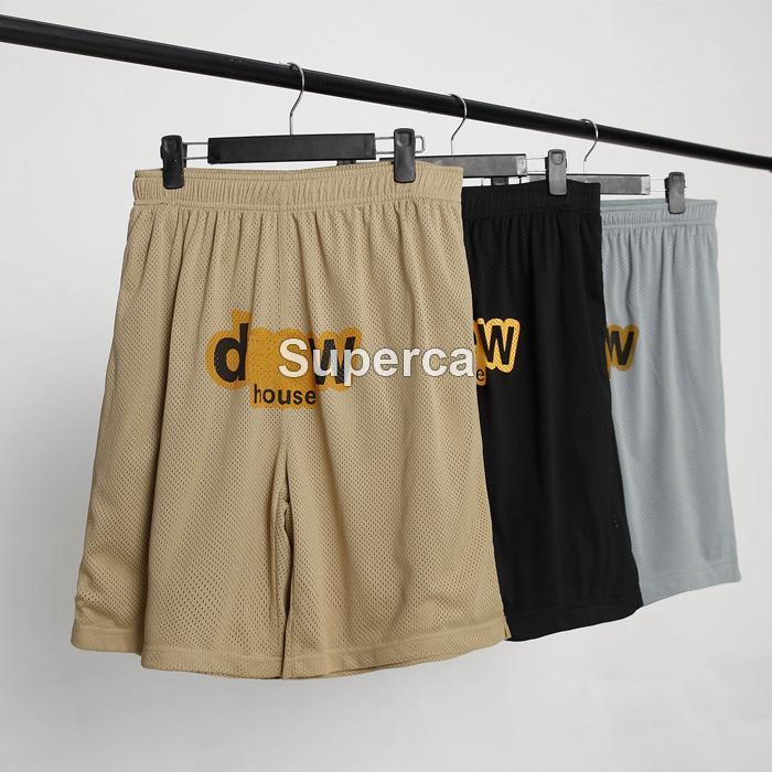 21ss أعلى قوليتي مصمم شاطئ السراويل عالية الشارع تنفس شبكة السراويل القصيرة حزام الرجال الصيف رياضة sweatpants الهيب هوب الشارع الشهير ملابس رجالي الحجم: XS-L