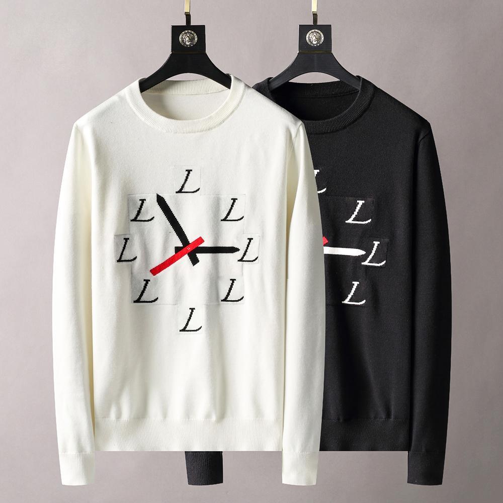2021 Erkek Tasarımcı Kazak Mektup Baskı Kadın Erkek Kazak Yüksek Kaliteli Rahat Yuvarlak Uzun Kollu Nakış Beyaz Kapalı Hoodies T Gömlek High-end Tasarım Hoodie 1