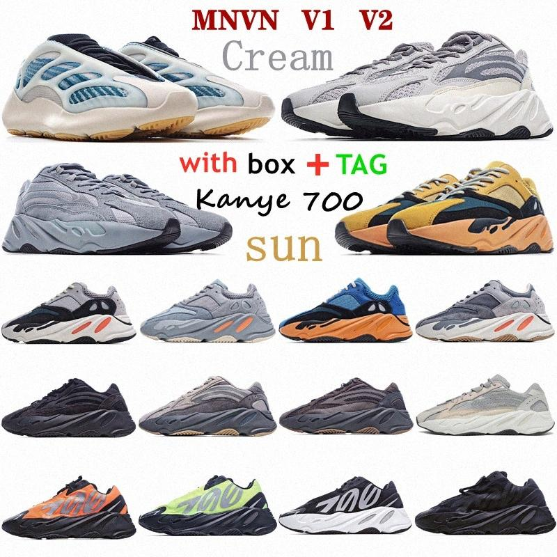 2021 KANYE 700 WAVE West Casual Chaussures V2 Sun Amber Crème Cyan Brillant Teal Vanta Mauve Salte Salte Geode Inertia Statique Analogie Staphra Kyanite Runner adidas Sneakers