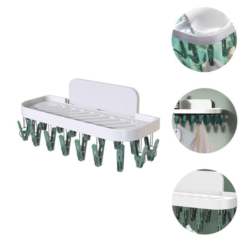 Gancho de cabides 1 pc clipe de casa prático drip secagem de parede de parede