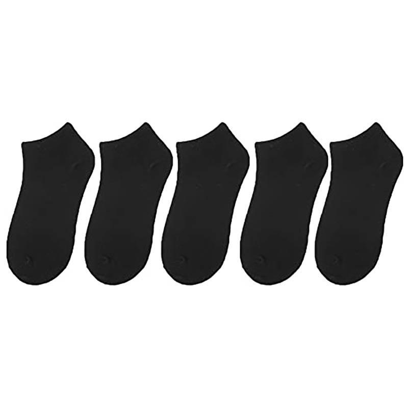 Men's Socks 5 Pairs Cotton Slim Fit Breathable & Thick Cushioned Solid Color Ankle For Men And Women
