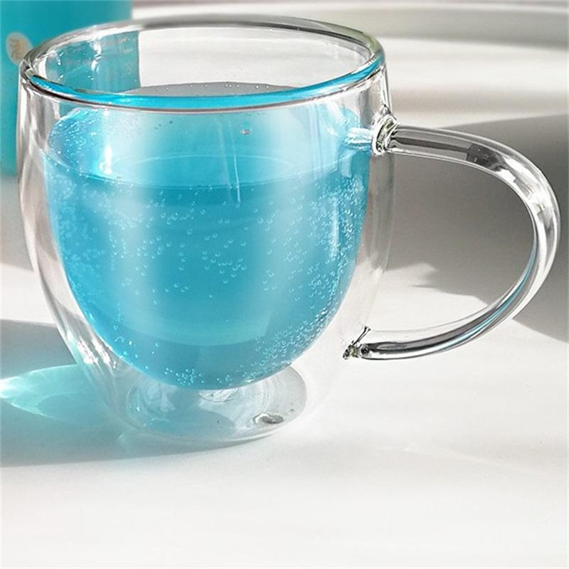 1 PCS resistente ao calor de parede dupla cerveja copo de café artesanal caneca de cerveja criativa de cerveja de chá de vidro uísque de chá xícaras de vidro wholesale 537 R2