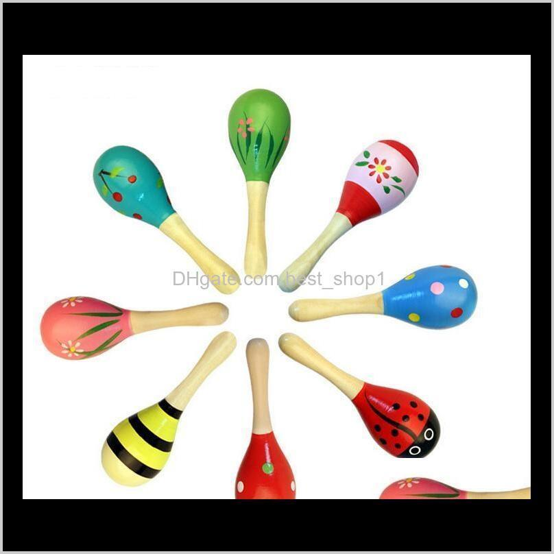 Learning Education & Gifts Drop Delivery 2021 Toy Cute Rattle Orff Musical Instruments Educational Toys Mini Baby Wooden Hammer Gift Gaxlq