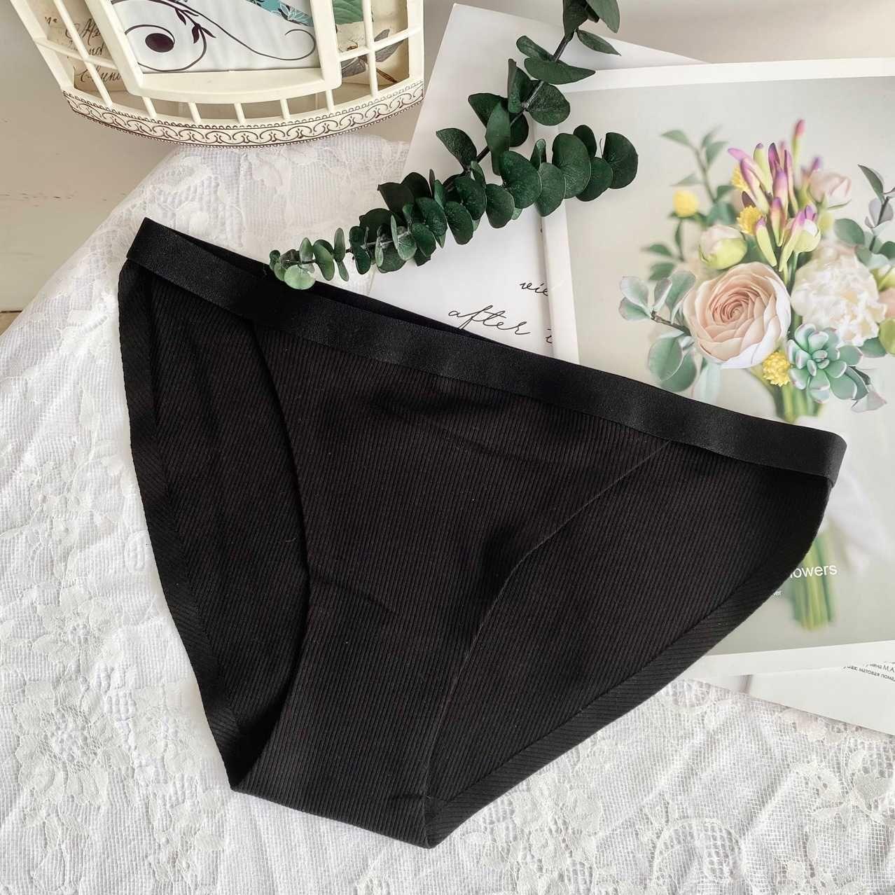 Panties XL Cinturino singolo in vita a vita bassa Colore a contrasto Adesivo da donna Adesivo di cotone di grandi dimensioni