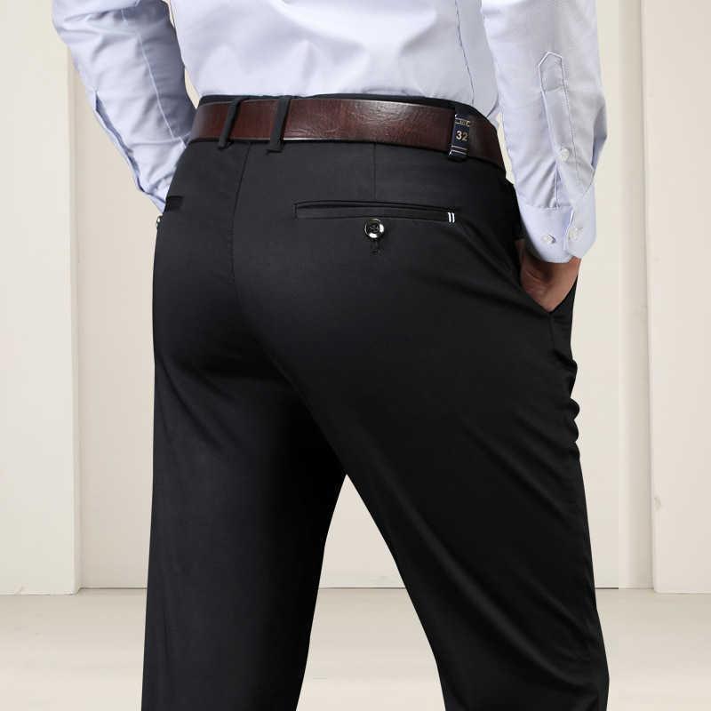 Automne et hiver Style Plus Taille Pantalon Casual Chaud Stretch Business Vêtements Hommes Plus Épaississement Velvet Pantalon droit 210531
