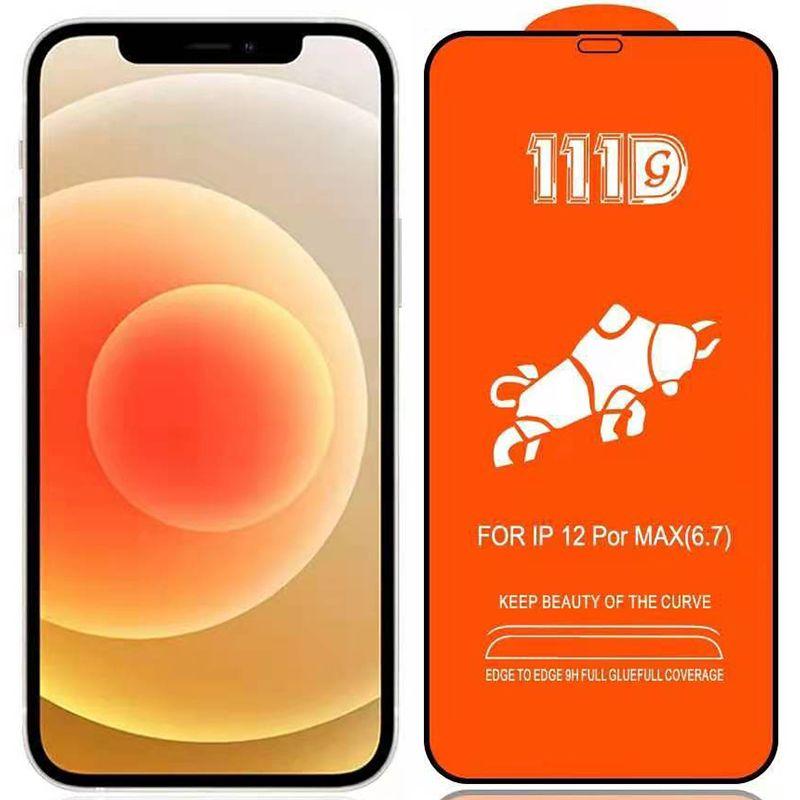 111D Vollkleber-Display-Protektor gehärtetes Glas Premium-Nachweis gebogener Abdeckungsschutz-Filmabdeckungsschild für iPhone 13 Pro max 12 mini 11 xs xr x 8 7 6 6S plus se