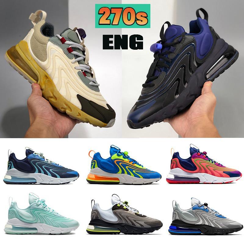 Más reciente 270S ENG MENS Running Shoes Cactus Trails Black Sapphire Royal Summit White Photon Dust Blackned Blue Hombres Mujeres Diseñador Zapatillas de deporte