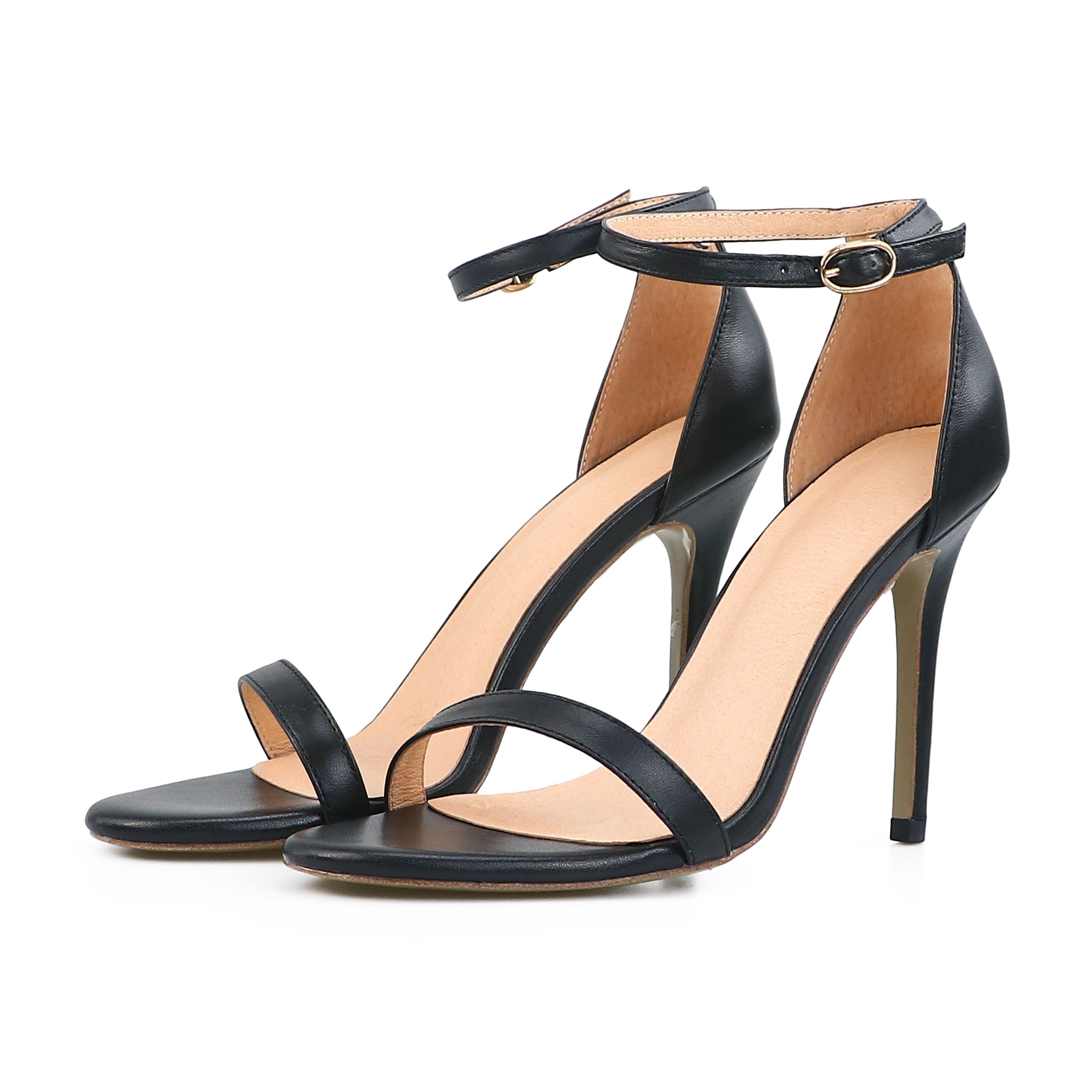 새로운 패션 여성 여름 하이힐 숙녀 섹시한 발가락 샌들 여자 발목 스트랩 Stiletto 샌들 Dropshipping