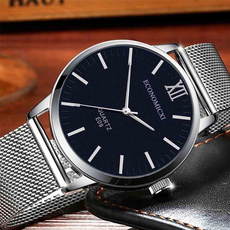 Saatı 2021 Siyah Kuvars Saat Lige Erkek Saatler Erkekler Için Top İzle Basit Tüm Çelik İş Bilek Reloj 50