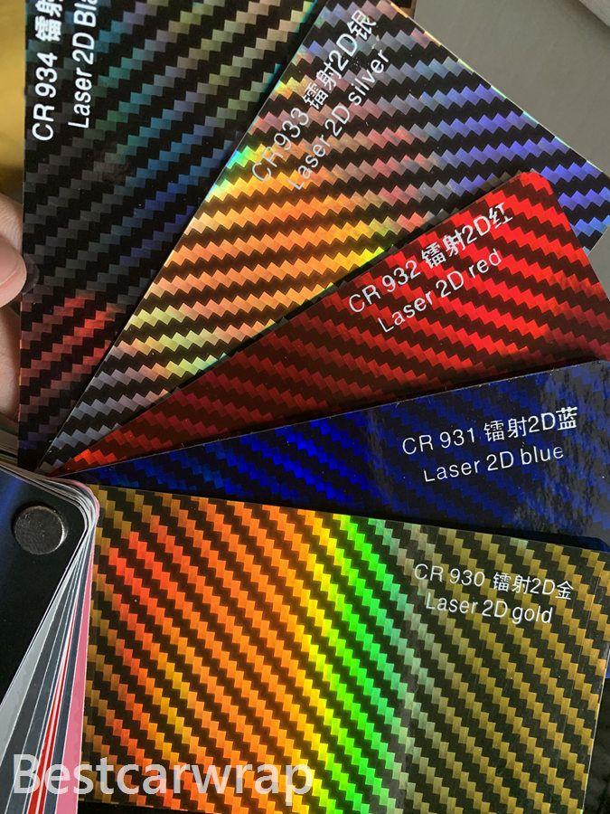 Neo holografisk kol vinyl bil wrap täcker film laser klistermärken med luftbubbla fri låg tack lim 1,52x18m / rulla
