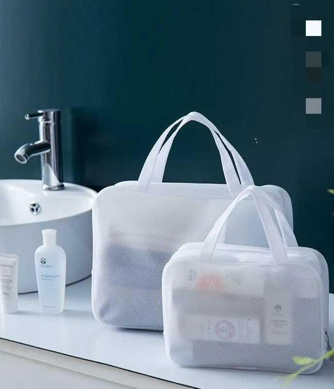 Salle de bain de voyage portable pour femmes grande capacité imperméable baignoire baignoire sac de poche maquillage sacs cosmétiques cas