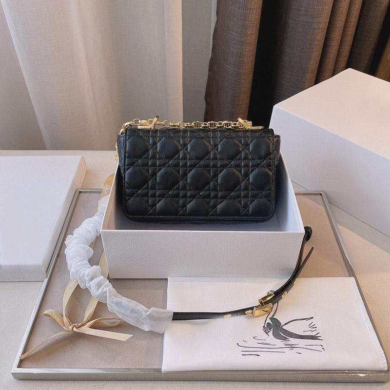 2021 مصمم العلامة التجارية كتف واحد رسول حقيبة مواضيع سلسلة الأزياء الكلاسيكية السيدات محفظة جلدية لإرسال مربع هدية الأصلي