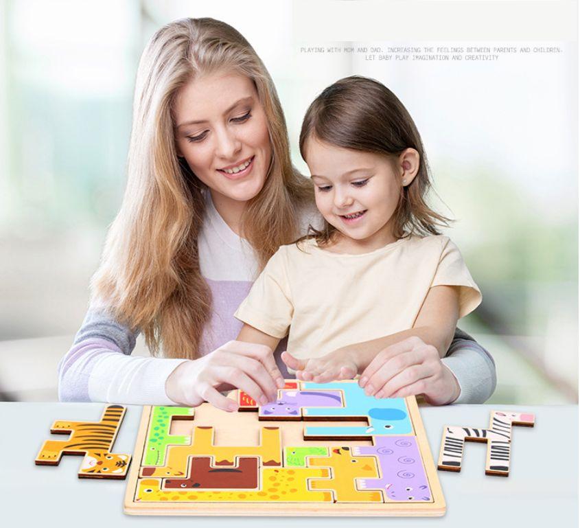 Çocuk Yaratıcı Yapı Taşı Bulmaca, Erken Eğitim Eğitim Veli-Çocuk İnteraktif Eğlenceli Oyuncak