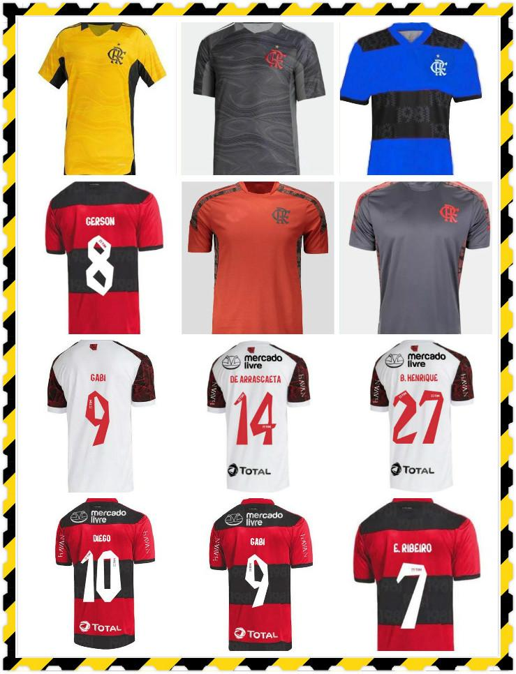 2021 2022 Flamengo Outubro Rosa Futbol Formaları Camisetas de Futbol Gabriel B. Diego 21 22 Pedro Gerson Futbol Gömlek