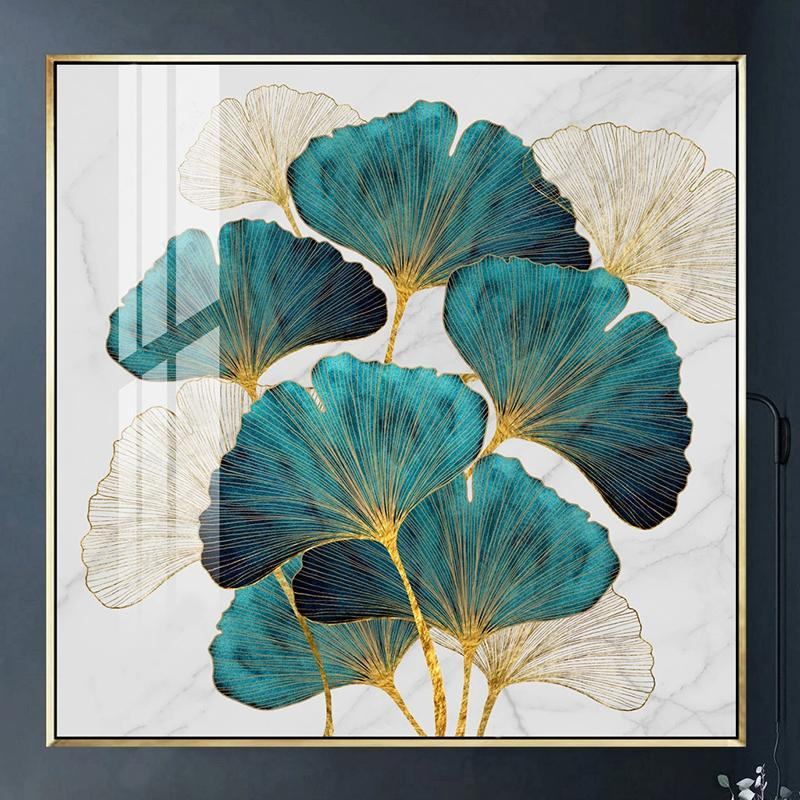 Custom 3D Po Wallpaper Modern Ginkgo Leaf Decoration Wall Painting Luxury Living Room Sofa Entrance Home Decor Mural Paper Wallpapers