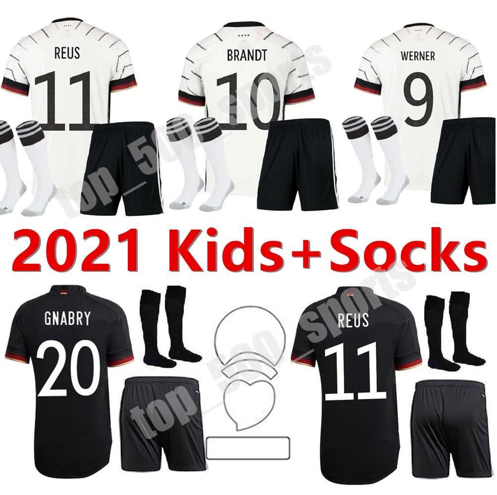 2021 유럽 컵 국가 팀 키트 키트 축구 유니폼 청소년 21 22 Hummels Kroos Draxler Reus Muller Kimmich 자식 축구 셔츠 유니폼