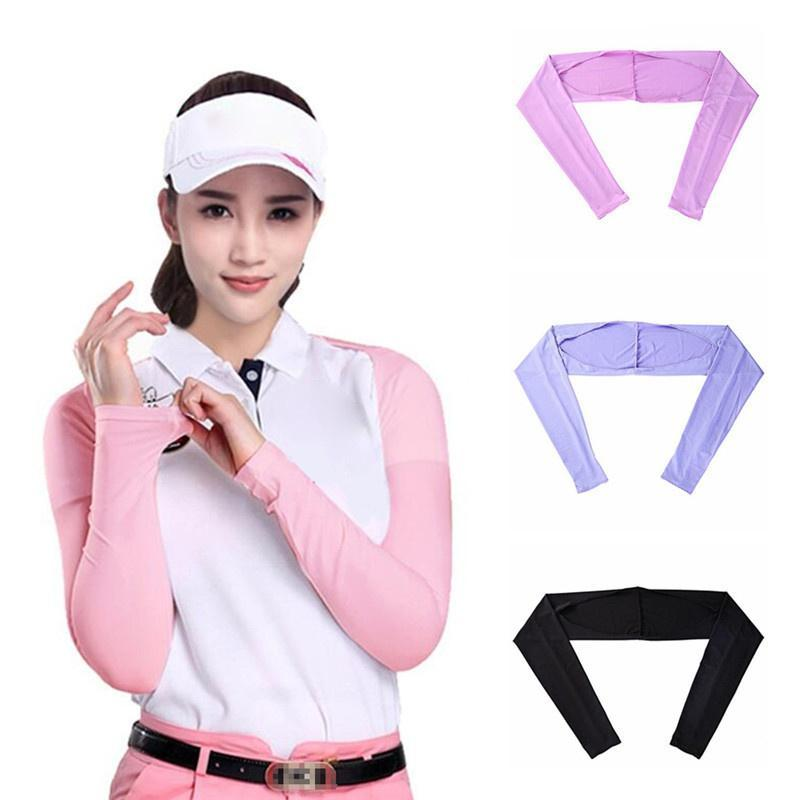 Women Shawl Cuff Gloves Golf Sleeves Ice Silk Sunscreen Sleeve Summer UV Protection Clothing For Outdoor Activity Cycling Caps & Masks