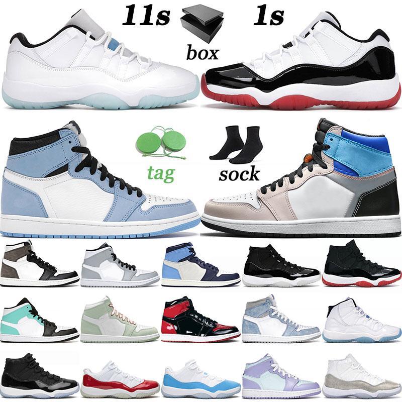 nike air jordan retro 1 1s 11 11s off white مع صندوق جودة عالية أحذية كرة السلة منخفضة الأسطورة الأزرق الحمضيات الرجال النساء Jumpman Hyper Royal Trainers أحذية
