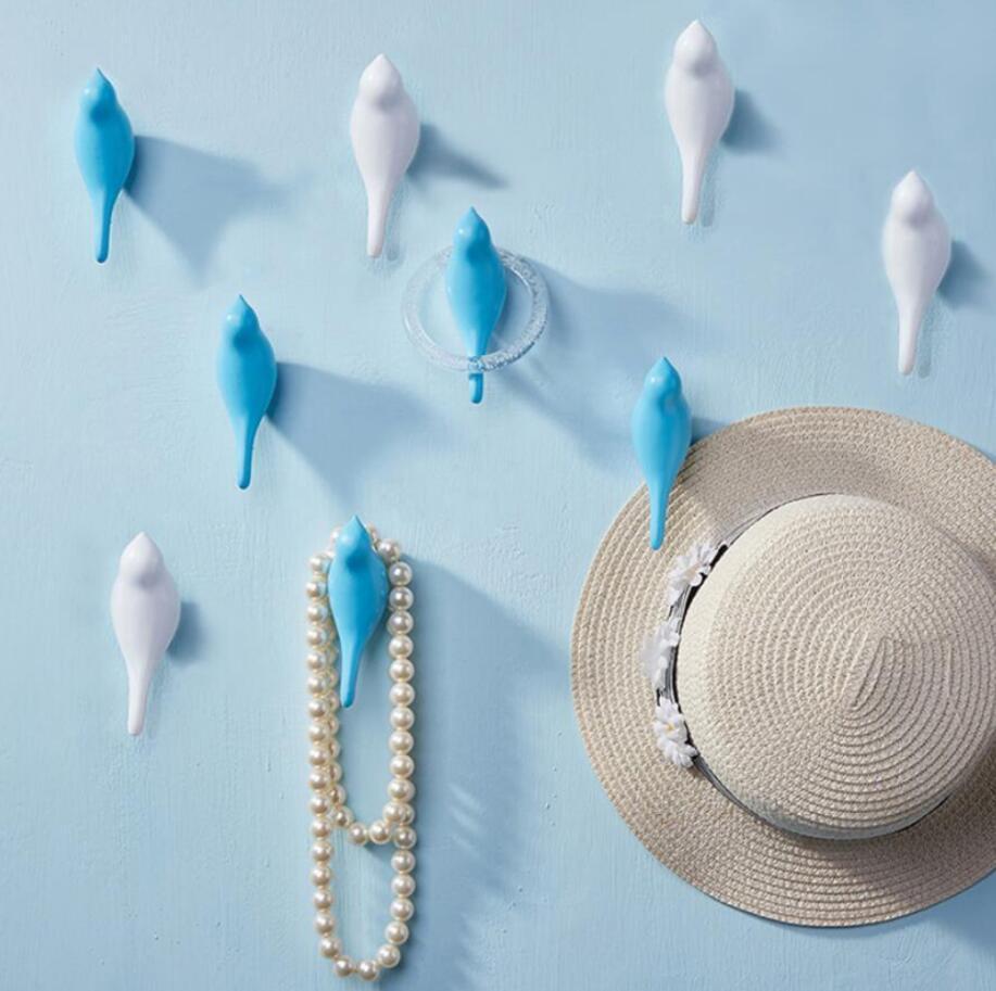 Kreative Vogelförmige Harz Mantel Haken Wand Hängende Tuch Hut Kleiderbügel Home Garten Dekor Haken hinter Türdekoration