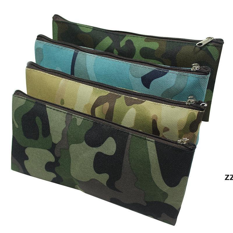 Camouflage Bleistiftkoffer Tragbare Leinwand Große Kapazität Kosmetiktasche Multifunktionale Schreibwaren Aufbewahrungstaschen 19 * 9.5cm HWB9983