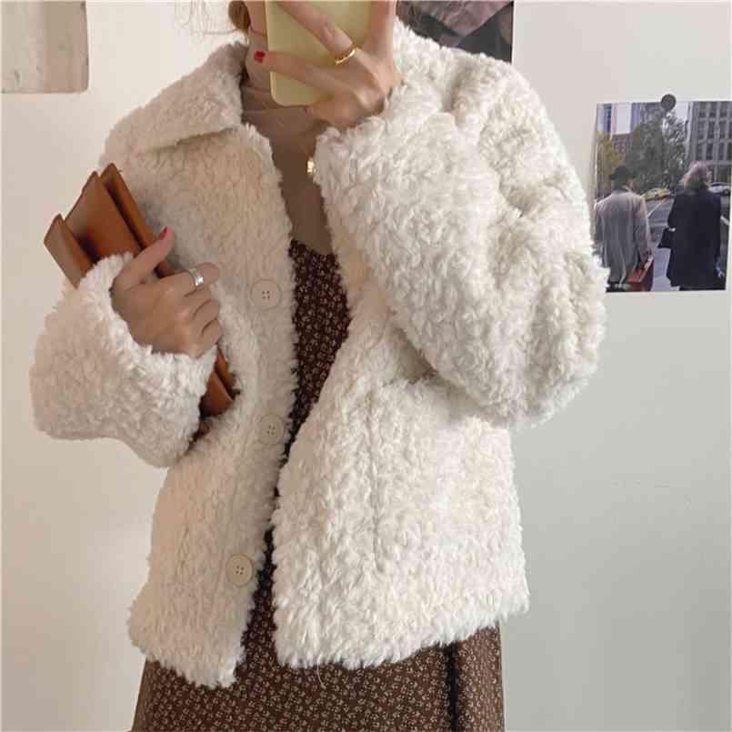 겨울 코트 여자 대형 패션 캐시미어 양모 코트 겉옷 여성 짧은 두꺼운 따뜻한 모직 overcoat 여성 트렌치 210423