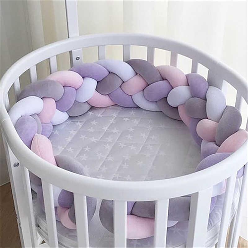 3m / 2m / 1m 4 가닥 머리 끈 베이비 침대 범퍼 매듭 침대 범퍼 보육 크래들 보호자 아기 침구 방 장식 ZT95 Q0828
