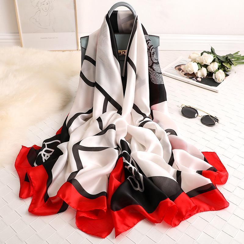 2021 Cashmere Elegante Scrapes Autunno Autunno Chiffon Sciarpa di seta Sciarpa di seta Donne Pashmina Scialle 180 cm