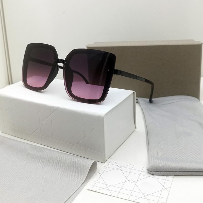 최고의 고품질 패션 남자 여성 선글라스 스퀘어 태양 안경 안티 UV UV400 레트로 스타일 그라데이션 컬러 렌즈 선글라스 선물