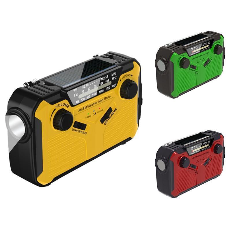 Radio a mano Solar Crank AM / FM / WB Led di emergenza con funzione di alimentazione
