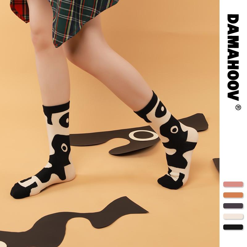 2021 Ins Fashion Womens Socks Cotton Female Soild 5 colors Mesh For All Size